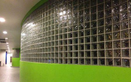 Quadra Glass Block in Library Facade