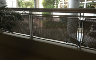 Metal Hand Rail which obstructs the view