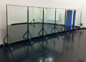 movable mirror panels