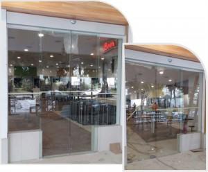 Foodcourt Glass Entrance