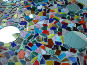 Stained glass peices