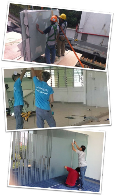 glass and glazing work in singapore