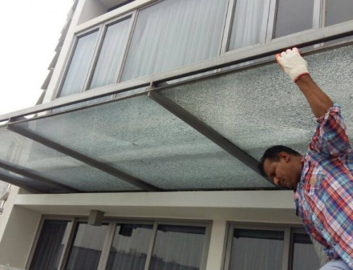 Replacement of shattered Canopy Glass