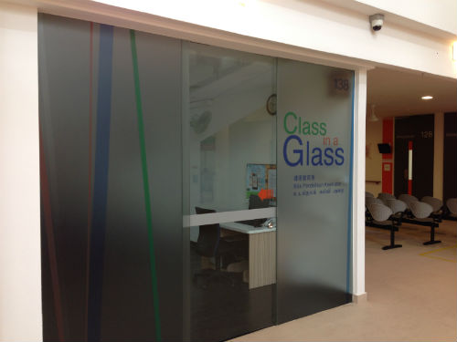 Glass Room giving a classy look