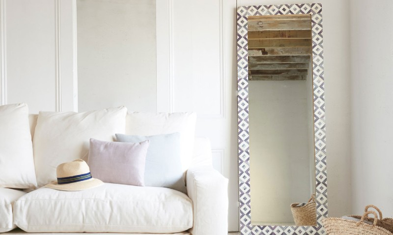Framed full height standing mirror