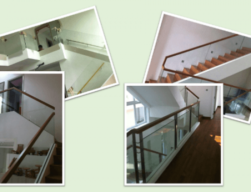 Glass Railings / Paneling for Staircase and Corridor