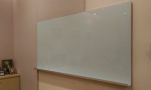 Glass Whiteboard in office