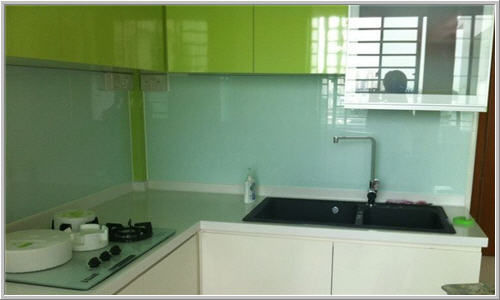 Glass Wall in Kitchen area