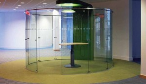 Glass enclosure for meetings