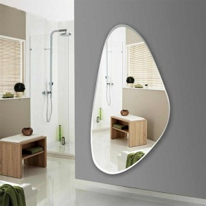 home with wall mirror