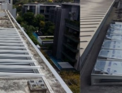 Glass & Polycarbonate Roofing for Rain Water Prevention