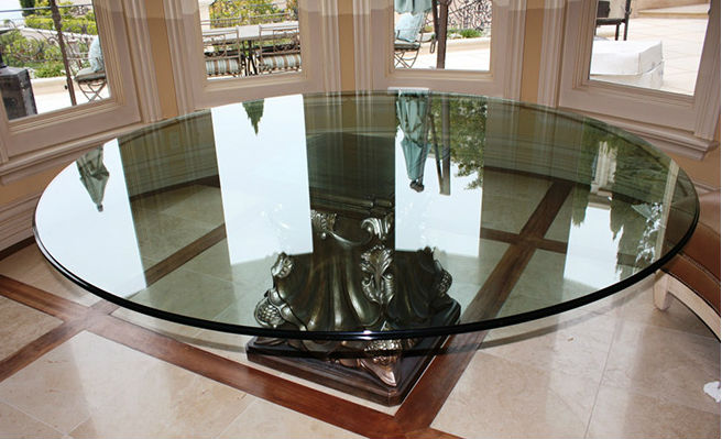circular center table at entrance