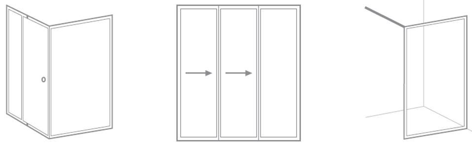 3 enclosure styles