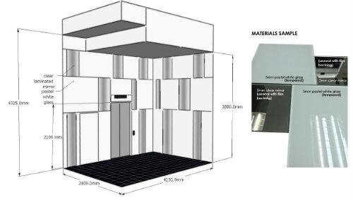 Design for Glass Paneling Lift Lobby