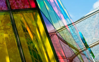 Colourful glass panels