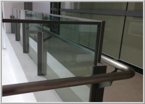 Glass Railing for outdoor corridor