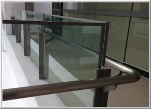 Glass Railing for outdoor corridor