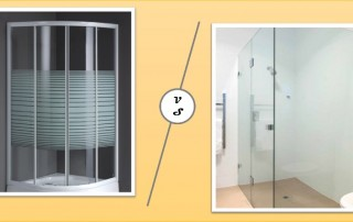 pros cons of glass and acrylic shower screens